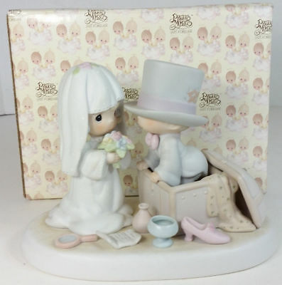 Precious Moments Heaven Bless Your Togetherness 106755 Flower Mark W/Box