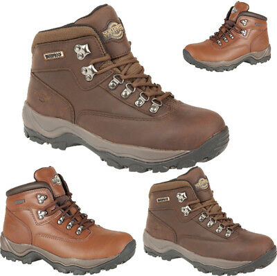 Ladies Womens Leather Walking Hiking Waterproof Ankle Boots Trainers Lace Shoes
