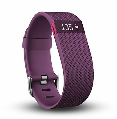 Fitbit Charge HR Wireless Activity Wristband (Plum, Large)