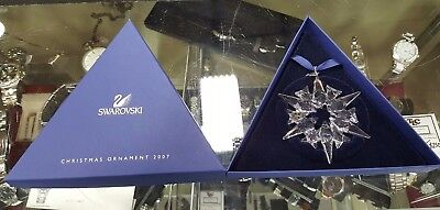 2007 Swarovski Crystal Large Snowflake Christmas Tree Ornament - NEW!