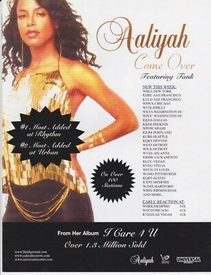 Aaliyah Original Magazine Advertisement Rare! Come Over