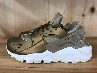 quality design 1f4e5 11fa2 Nike Huarache Run Prm Txt Khaki Metallic Field Summit Wmns Sz 6-10 Aa0523-