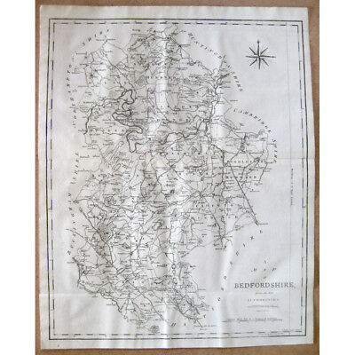 BEDFORDSHIRE - Antique Map 1805 by John Cary From the Best Authorities