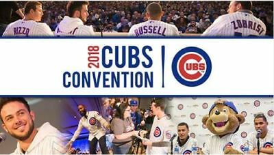 2018 Chicago Cubs Convention Weekend Tickets Passes - Sheraton Grand Chicago
