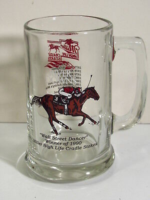 River Downs Winners  - Miller Cradle Stakes -1990 Wall Street Dancer - Beer Mug