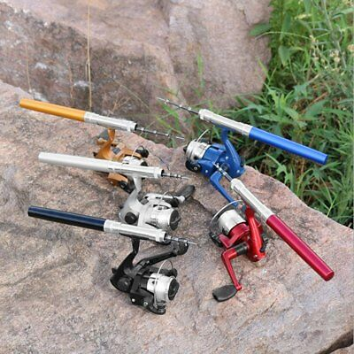Lightweight Portable Pen Rod Fishing Set Telescopic Fishing Rod Pole + Reel GT