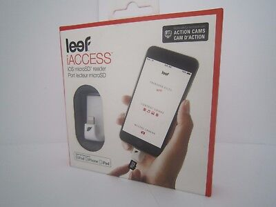 LEEF iACCESS iOS MICRO SD CARD READER IPHONE IPAD WHITE BRAND NEW SEALED BOXED