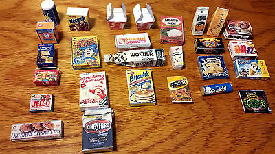 1:6 Barbie Dollhouse 27pc Miniature Food Pantry Refrigerator Handmade FOOD ONLY