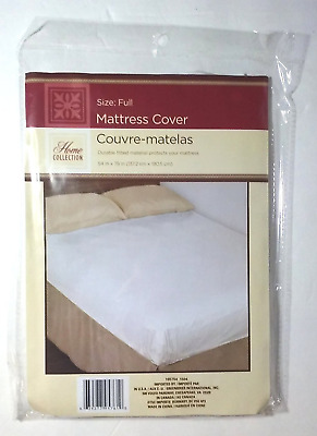 """54"""" x 75"""" Mattress Protector Waterproof Cover Full Size Fitted Bed Bug Dust Mite"""