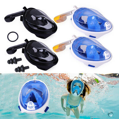 Anti-Fog Full Face Snorkel Mask Diving Snorkelling Scuba For GoPro Camera S-XL