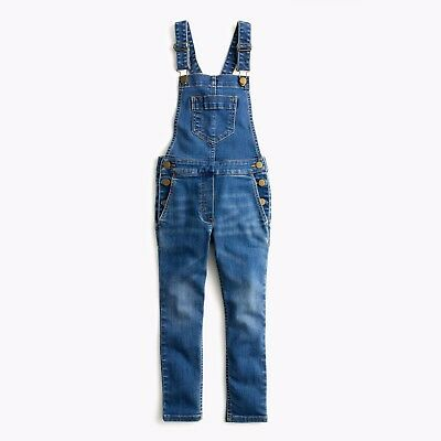 J Crew Crewcuts Girls Stretch Denim Overalls Toddler Size 2 NWOT Free Shipping!!