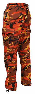 MENS ORANGE CAMO ROTHCO Military BDU Pants - Army Cargo Fatigue Camouflage  Camo aa2c4cad027