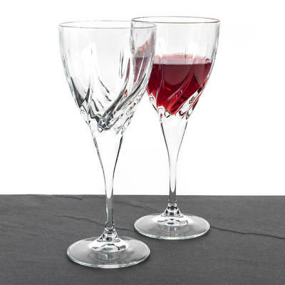 RCR Twist Set of 2 Italian Crystal Wine Glasses 330ml *NEW WITH FREE SHIPPING*