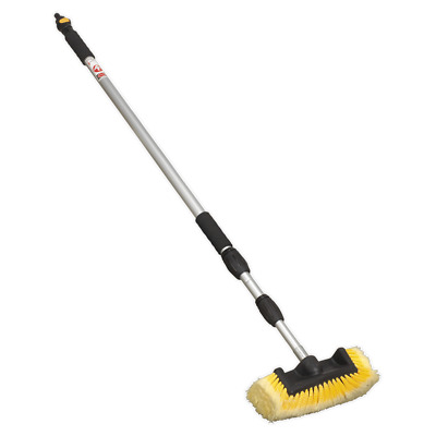 CC953 Sealey Five Sided Flo-Thru Brush + 3mtr Telescopic Handle [Cleaning Aids]