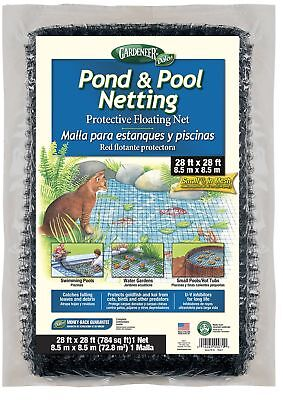 Gardeneer By Dalen Pond & Pool Netting Protective Floating Net 28' x 28'