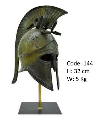 Ancient Greek Spartan Bronze Helmet Medium Size Museum Replica