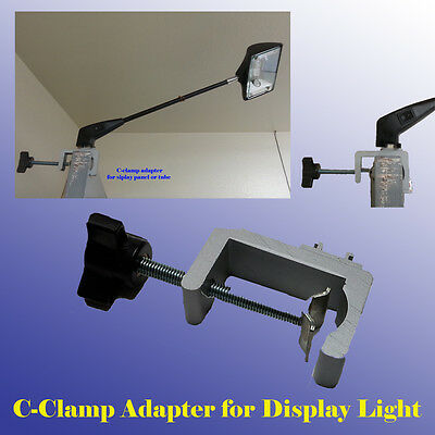 Strong C-clamp Adapter Converter Pop Up Tension Booth Display Light LED Panel