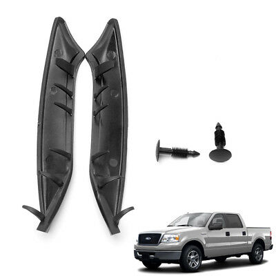 2 x Windshield Weatherstrip Rubber Seal Trim Wiper Cowl End For Ford F-150 04-08