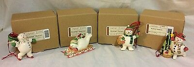 Longaberger BLUSTER CHRISTMAS ORNAMENTS -  Set OF 4 - New in Boxes