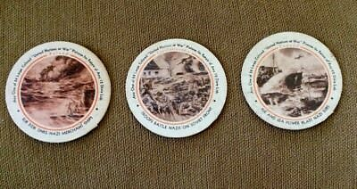 United Nations At War Poland Canada Czechoslovakia Borden Dixie Cup Lids Elgin