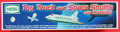HESS 1999 Toy Truck and Space Shuttle with Satellite new VINTAGE NEVER OPENED