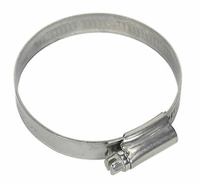 SHCSS2A Sealey Hose Clip Stainless Steel Ø44-64mm Pack of 10 [Hose Clips]