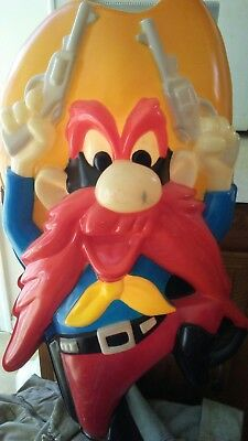 Yosemite Sam BlowMold Blow Mold Light Vintage  1992 Looney Tunes Wall Hanging