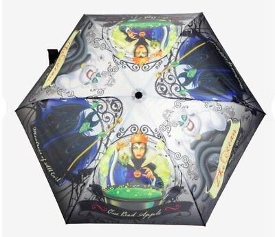Disney Villains Maleficent Evil Queen Ursula Push Button Umbrella NWT!