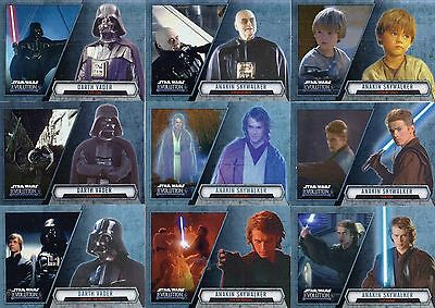 Star Wars - Evolution - Complete Trading Card Set (100) - 2016 Topps - NM
