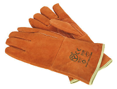 SSP151 Sealey Leather Welding Gauntlets Lined Heavy-Duty - Pair