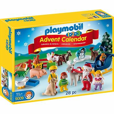 Playmobil 1.2.3 9009 Advent Calendar Christmas on the Farm Animal Kids Play Set