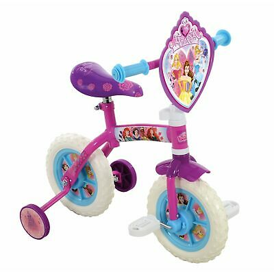 Disney Princess 2 in 1 10 inch Wheel Training Bike Cycle For 2 Years+ Child Kids