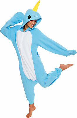 SILVER LILLY Unisex Adult Plush Narwhal Animal Cosplay Costume Pajamas 150ccf08d