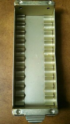 VINTAGE STOKES SYSTEM ART DECO STYLED BANK COIN ROLL (Nickels) TRAYS  ALUMINUM