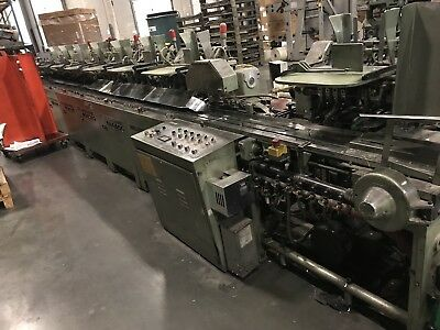 Muller Martini 227   10 Pocket Newspaper Inserter completely refurbished.
