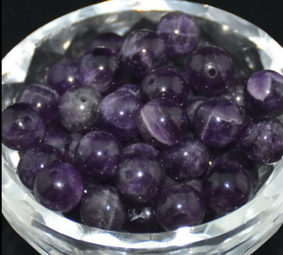 4-10mm Natural Gemstone Purple Stone Amethyst Loose Beads DIY Jewelry Making