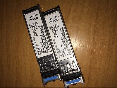 GENUINE CISCO GLC-FE-100LX-RGD - 100Base-LX Multi ModeRugged SFP - 2 units