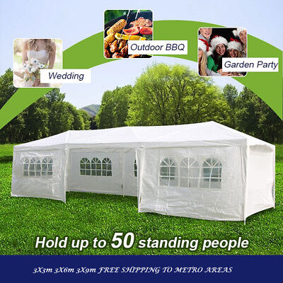 Wedding Outdoor Marquee Party Tent 3x3m 3x6m 3x9m White Cooper FREE SHIPPING