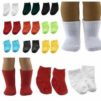 Socks Stockings for 43cm Zapf Baby Born Doll & 18 inch American Girl Generation
