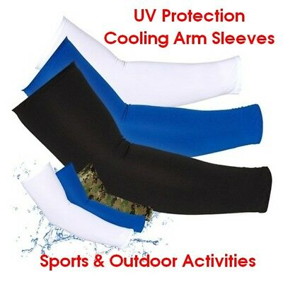 Cooling Sport Outdoor Arm Stretch Sleeves Sun Block UV Protection Cover 4 Pairs