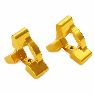 Pair Gold CNC 17mm Caliber Motorcycle Fork Preload Adjusters Universal Aluminum