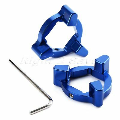 Blue Motorcycle Universal Folk Preload Adjusters 22mm Caliber CNC T6 Aluminum