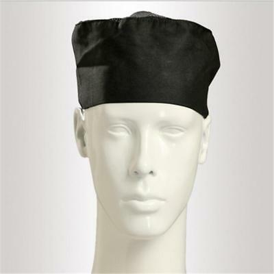 TINKSKY Breathable Mesh Top Catering Chefs Hat with Adjustable Strap New(Black)