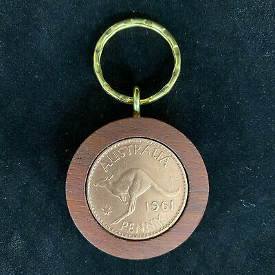 60th Birthday Gift Present 1958 Jarrah Penny Keyring other years available