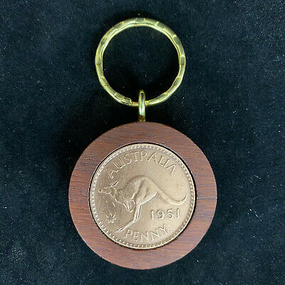 70th Birthday Gift Present 1948 Jarrah Penny Keyring other years available