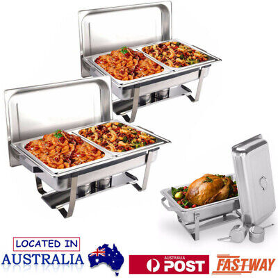 Foldable Stainless Steel Chafer Dish Chafing Buffet Bain Marie Food Warmer AU