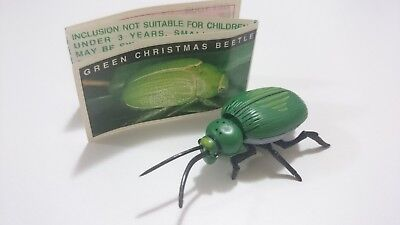 "Cadbury Yowies AU Series 1 ""Proto Pins"" Green Xmas Beetle + GREEN Papers"