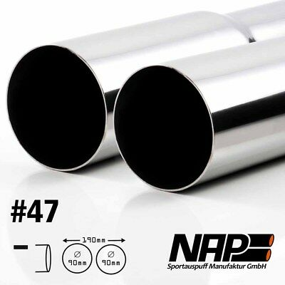 Nap Weld-On End Pipe 0 3/32x3 17/32In Sharp with Abe Stainless Steel