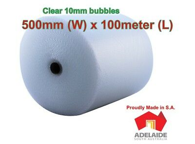New 500mm x 100M Bubble Wrap Roll Clear (Adelaide only)