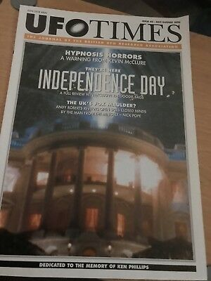 UFO Times Issue 42 July/August 1996 Journal of BUFORA - Rare - Independence Day